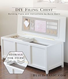 DIY Filing Chest - Our home office is a small space, and our tall, boxy filing…