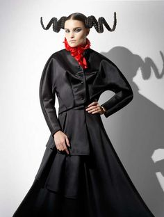 'Fashion Victim' Photo Set Features Hair Like Ram & Unicorn Horns #hairstyles trendhunter.com