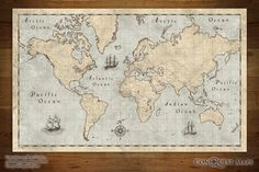 Looking for that perfect map poster? Youve found it! The world we live in today illustrated to feel like a vintage antique map! Liven up your room