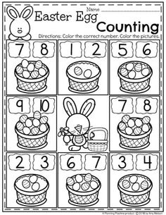 Looking for AWESOME Easter Worksheets and Activities for preschool? You will LOVE these Easter themed centers and no-prep printables. Work on the alphabet, counting, tracing, patterns and more in this awesome set of Easter fun. Preschool At Home, Preschool Lessons, Preschool Learning, Preschool Activities, Teaching Kids, Pre K Worksheets, Easter Worksheets, Kindergarten Math Worksheets, Toddler Learning