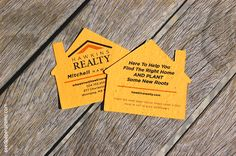 Give clients these memorable printed seed paper house shapes as business cards or as a thank you.