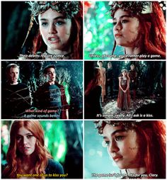 But if I was the seelie queen I would have replied to clary more like this: That was not My original plan but now that you mention it I like that idea better. Yes Jace please step forward! Don't worry Simon u are next!