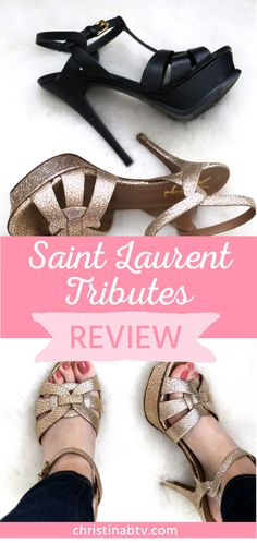 95bb1c750d1 Saint Laurent tributes review. Comparing the YSL tributes 105 vs 75 heel  height. Saint
