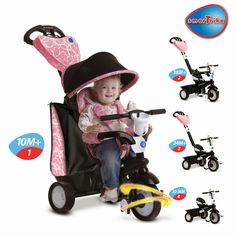 WIN a SmarTrike. It grows with your child. The Touch Steering Chic tricycle is SmarTrike's premium tricycle. It allows both parent and child to experience 4 In 1, All Kids, Enter To Win, Tricycle, Your Child, Baby Strollers, Parenting, Chic, Children