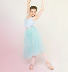 Image of Ready-To-Wear Tulle Skirt - Seafoam/Giselle Blue