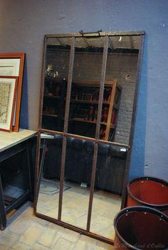 Miroir industriel fait d'un cadran d'une ancienne serre...eNCoRe uNe De MeS TRouVaiLLeS...je l'adooore