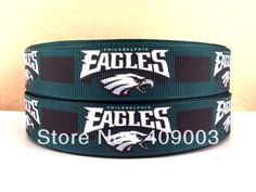 Philadelphia eagles ribbon for hair bow or pacifier clip https://m.facebook.com/MadeByMommyLV