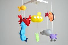 Sea Baby Mobile, Crib Mobile, Nursery Decor, Sea Mobile with Dolphin, Crab, Fish and Sea Horse on Etsy, $95.11 AUD