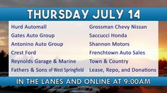 Featured Vehicles Running Thursday July 14 at Ocean State Auto Auction