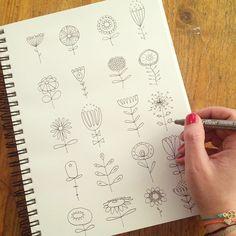 """""""Doodling my day away in the sofa. Dreaming of a blooming 2015 for both you and me - with overflow of creative energies Nytårskoncert, skihop, sofahygge, pen og papir. Tanker om året der er gået og det nye spændende år, som venter forude. Det er min 1. januar i år... Hvordan er din dag? ✒️ #adoodleaday #doodling #doodle #drawing #stampinspiration #inspiredbynature #blooming #flowers #doodlingtogether #doodlersanonymous #arteveryday #art_we_inspire #1january #happynewyear #tegning #blomster…"""
