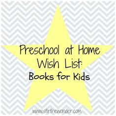 Preschool at Home Wish List is a new series I am writing about the books, toys and games that I am using or hope to get for our preschool at home adventure. In addition to this post on the books … Continuereading→