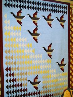 """Flying Home"" quilt in Pam Bono's book (I have this book)"