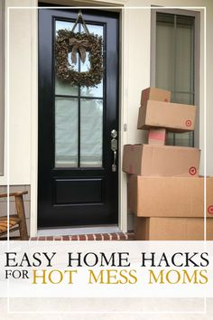 Super simple home hacks- so simple they work. technically, these are life hacks but crosses over with home organization ideas and tips. Saving to try this weekend. I seriously need an organized home because I am totally chronically disorganized! Home Organization Hacks, Organizing Ideas, Organizing Life, Diy Home, Home Decor, Paper Clutter, Home Management, Declutter Your Home, Hot Mess