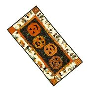Two sided table runner: Halloween and Christmas