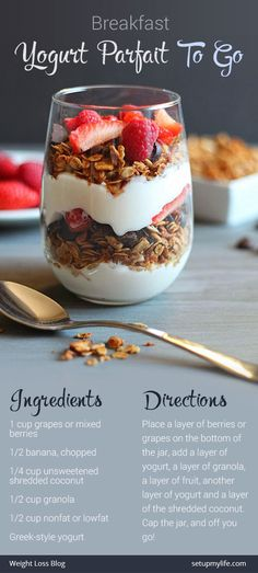 Yogurt Parfait To Go #yogurt