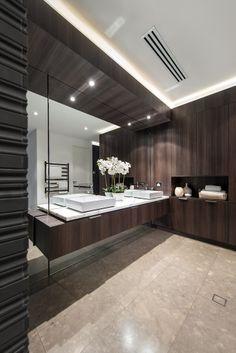 Master ensuite with timber cabinetry, luxury resort style bathroom. Designed by Urbane Projects, Perth Resort Style, Bathroom Styling, Design Inspiration, Design Ideas, Luxury Homes, Vanity, Bathroom Vanities, Bathrooms, Interior