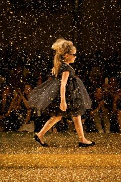 Twin-Set Girl summer 2014, the golden rain is now a downpour for the finale outfits at Pitti Bimbo 77