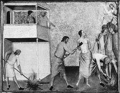 Bernardo Daddi - Santa Reparata torturata con i ferri roventi - ca. 1338-1340 - Tempera su tavola - The Metropolitan Museum of Art, New York