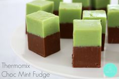 The most delicious two layer Thermomix Choc Mint Fudge filled with Peppermint Crisp - this will keep you coming back for more!!