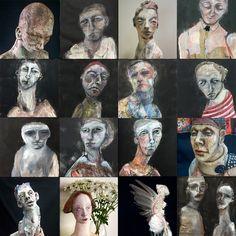 Abstract Faces, Abstract Portrait, Digital Art Tutorial, Art For Art Sake, Face Art, Figure Painting, Artist At Work, Figurative Art, Ceramic Art