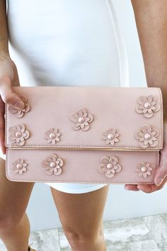 All My Flowers Clutch: Mauvy Pink