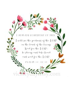 I Remain Confident Of This Psalm 27:13-14 print of by VictoryDay