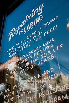 Nudie Jeans Repair Shop in London