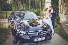Esküvői autódísz - tapadókorongos dísz