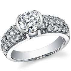 Tiffany Pave Etoile Inspired Asha & Diamond Wedding Set - GORGEOUS!