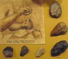 Homo erectus invente la pierre taillée à 2 faces pour travailler le bois, dépecer une carcasse, servir de harpon ou de lance, pêcher ou chasser éléphants