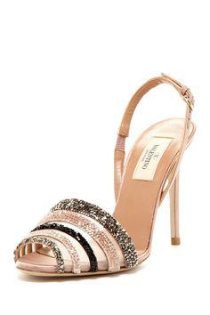 Valentino Embellished Mesh Sandal