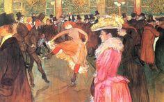 Addestramento delle nuove arrivate da parte di Valentin-le-Desossè, Henri Toulouse-Lautrec, 1890, olio su tela. Filadelfia (Pennsylvania), Philadelphia Museum of Art.