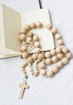 Wooden Rosary {Exclusive}