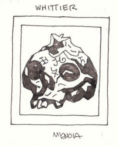 Mike Mignola Hellboy: The Whittier Legacy Skull, in Nick Warmack's Mike Mignola Comic Art Gallery Room Mike Mignola Art, Skull Anatomy, Dark Comics, Arte Horror, Universe Art, Creepy Art, Artist Gallery, Comic Artist, Artist At Work