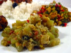 Snakegourd Kootu - A traditional sidedish that goes well with rice and roti. Mixed Vegetables, Veggies, Easy Indian Recipes, Ethnic Recipes, Cooking Time, Cooking Recipes, Sabzi Recipe, Vegetarian Side Dishes, Recipe Mix