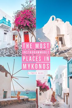 The Most mable Places in Mykonos - A photo guide for the beautiful island of Mykonos, Greece. This guide includes everything you need to get the best out of your trip to Mykonos including where to go, major photo inspiration, geo tags and more. Travel Photography Tumblr, Photography Beach, Photography Tips, Greece Itinerary, Greece Travel, Greece Trip, Europe Travel Guide, Europe Destinations, Travel Guides