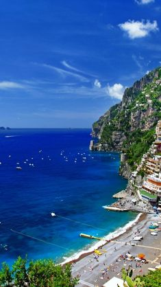 Positano. Amalfi coast. #Italy This is color enhanced - but the place is still gorgeous