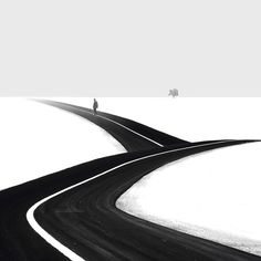 Iranian photographer Hossein Zare presents a powerful series of black and white pictures that symbolize our journey through life. Stripped of unnecessary details, his photographs gives you the bare feeling of undefined destination in life, represented by the traveling man and other metaphors of life, such as a tree or a road.