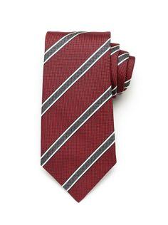 Pinpoint Stripe Tie - Merlot (http://noeliasanchez.jhilburn.com/products/pinpoint_stripe_tie/merlot) $89