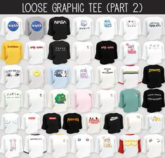 """elliesimple: """" Elliesimple - Loose Graphic Tee & Pleated Skirt If you want to support me click here ! ° DOWNLOAD ° • Loose Graphic Tee (42 + 43 + 52 swatches) OR Ad free on Patreon ♥ • Pleated Skirt..."""