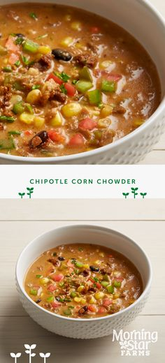 Warm up tonight with our chipotle corn chowder and add a bit of spice to dinner.