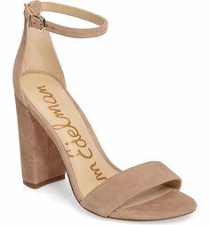 2db7dfdb2dc1 Main Image - Sam Edelman Yaro Ankle Strap Sandal (Women) Nude Heeled Sandals
