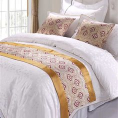 Wholesale Ployester Hotel Bed Runner Manufacturer Quilt Bedding, Bedding Sets, Bed Scarf, Hotel Bed, Bed Runner, Cushions, Pillows, Beautiful Hotels, Bedspreads
