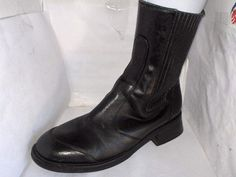 COLE HAAN WOMENS BLACK LEATHER MIDCALF BOOT SIZE 10 MEDIUM RUSSELLB SHOES #ColeHaan #FashionMidCalf
