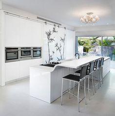 modern kitchen by Elad Gonen & Zeev Beech- curved raised eating bar- very cool!