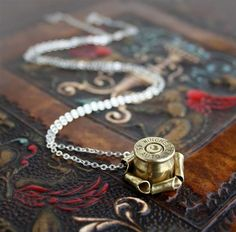 bullet casing jewelry by sundaycreek via Etsy.com - very unique and beautiful