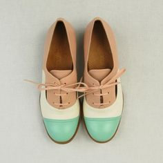 Cute pastel oxford shoe