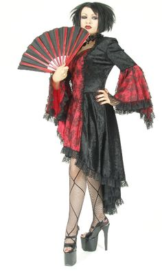 Eternal Love Plus Size Scarlet Red Gothic Gwendolyn Dress Taffeta Lace [5128S] - $95.99 : Mystic Crypt, the most unique, hard to find items at ghoulishly great prices!