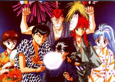 Yu Yu Hakusho :) the gang all dressed up in their festival attire! Kurama's looking especially cute <3 <3