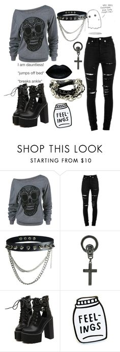 """Untitled #188"" by xx-starry-night-sky-xx ❤ liked on Polyvore featuring Yves Saint Laurent, Chris Habana and WithChic"